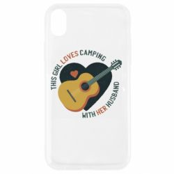 Чехол для iPhone XR This girl loves camping with her husband