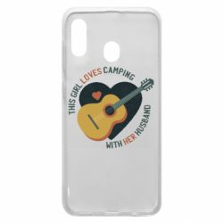 Чехол для Samsung A30 This girl loves camping with her husband