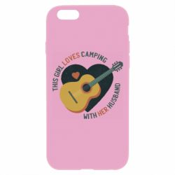 Чехол для iPhone 6 Plus/6S Plus This girl loves camping with her husband