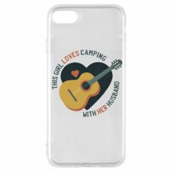 Чехол для iPhone 7 This girl loves camping with her husband