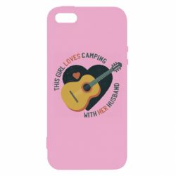 Чехол для iPhone5/5S/SE This girl loves camping with her husband
