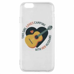 Чехол для iPhone 6/6S This girl loves camping with her husband