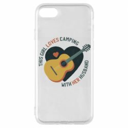 Чехол для iPhone 8 This girl loves camping with her husband