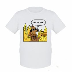 Детская футболка This is fine