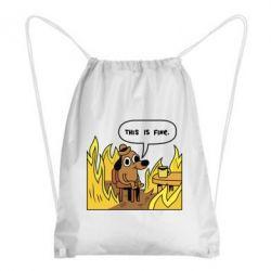 Рюкзак-мешок This is fine
