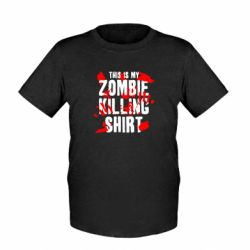 Детская футболка This is my zombie killing shirt - FatLine
