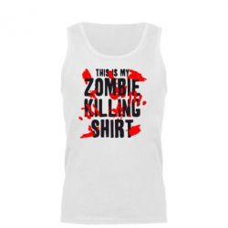 Мужская майка This is my zombie killing shirt - FatLine