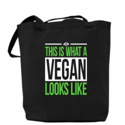 Сумка This is what a vegan looks like