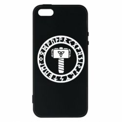 Чохол для iphone 5/5S/SE Thor's Hammer with Scandinavian Signs