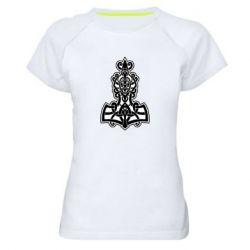 Женская спортивная футболка Thors hammer