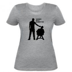 Женская футболка Three minutes.