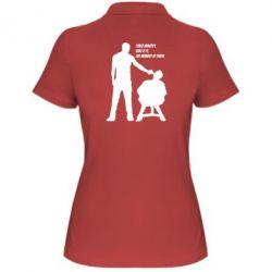 Женская футболка поло Three minutes.