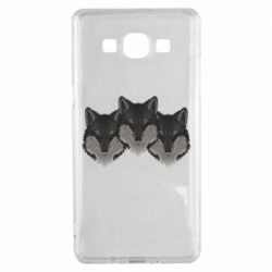 Чехол для Samsung A5 2015 Three wolf heads