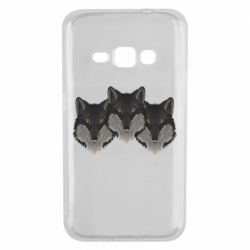 Чехол для Samsung J1 2016 Three wolf heads