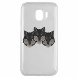 Чехол для Samsung J2 2018 Three wolf heads