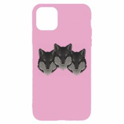 Чехол для iPhone 11 Pro Three wolf heads