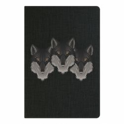 Блокнот А5 Three wolf heads