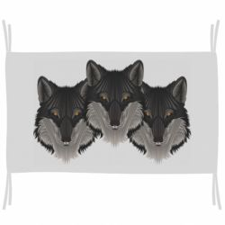 Флаг Three wolf heads