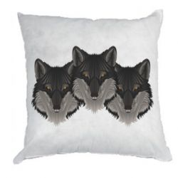 Подушка Three wolf heads