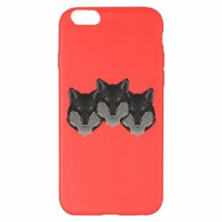 Чехол для iPhone 6 Plus/6S Plus Three wolf heads