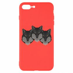 Чехол для iPhone 7 Plus Three wolf heads