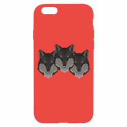 Чехол для iPhone 6/6S Three wolf heads