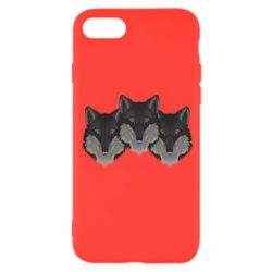Чехол для iPhone 8 Three wolf heads