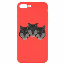 Чехол для iPhone 8 Plus Three wolf heads