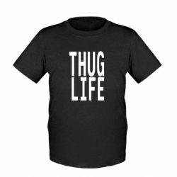 Детская футболка thug life - FatLine