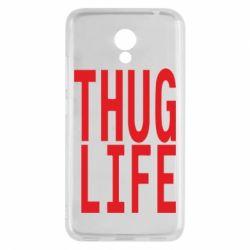 Чехол для Meizu M5c thug life - FatLine