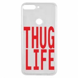 Чехол для Huawei Y7 Prime 2018 thug life - FatLine