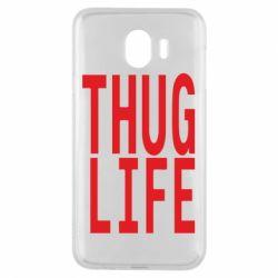 Чехол для Samsung J4 thug life