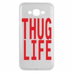 Чехол для Samsung J7 2015 thug life
