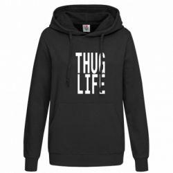 Женская толстовка thug life - FatLine