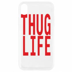 Чехол для iPhone XR thug life