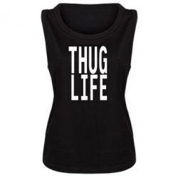 Женская майка thug life - FatLine