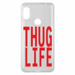 Чехол для Xiaomi Redmi Note 6 Pro thug life - FatLine