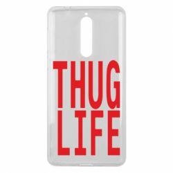 Чехол для Nokia 8 thug life - FatLine
