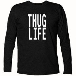 Футболка с длинным рукавом thug life - FatLine