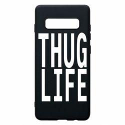 Чехол для Samsung S10+ thug life