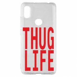 Чехол для Xiaomi Redmi S2 thug life