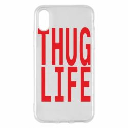 Чехол для iPhone X/Xs thug life