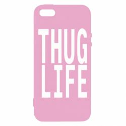 Чехол для iPhone5/5S/SE thug life