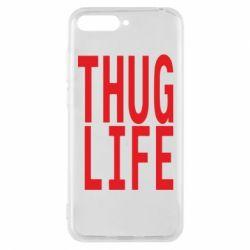 Чехол для Huawei Y6 2018 thug life - FatLine