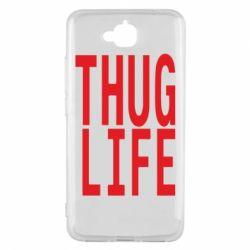 Чехол для Huawei Y6 Pro thug life - FatLine