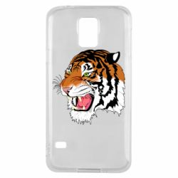 Чохол для Samsung S5 Tiger roars