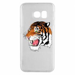 Чохол для Samsung S6 EDGE Tiger roars