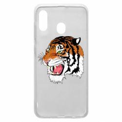 Чохол для Samsung A20 Tiger roars