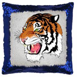 Подушка-хамелеон Tiger roars
