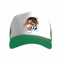 Дитяча кепка-тракер Tiger roars